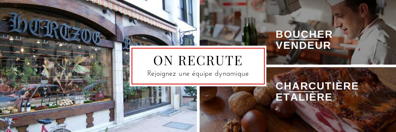 recrutement boucher - recrutement charcutière étalière - recrutement vendeur boucherie